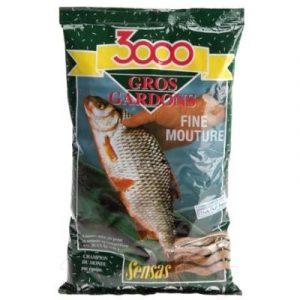 Прикормка рыболовная Sensas 3000 Gros Gardon Noir / 00232