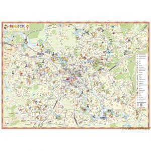 Настенная карта Белкартография Минск