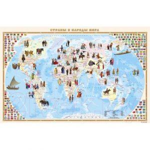 Настенная карта Белкартография Страны и народы мира