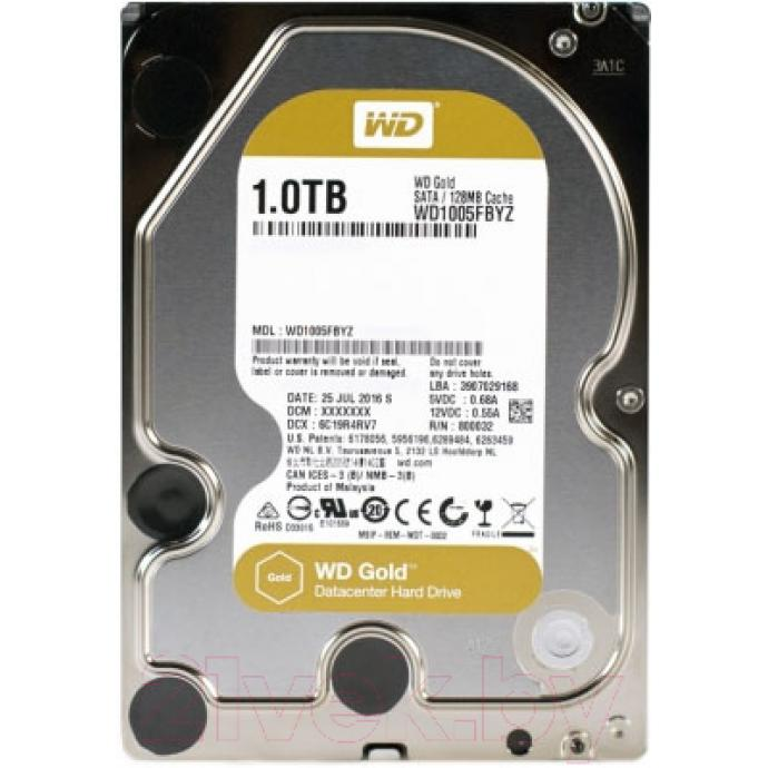 Жесткий диск Western Digital Gold 1TB