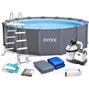 Каркасный бассейн Intex Graphite Gray Panel / 26384