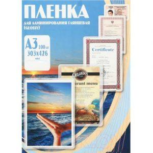 Пленка для ламинирования Office Kit 100мик 303x426 / PLP10630