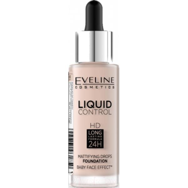 Тональный крем Eveline Cosmetics Liquid Control №005 Ivory инновационный жидкий